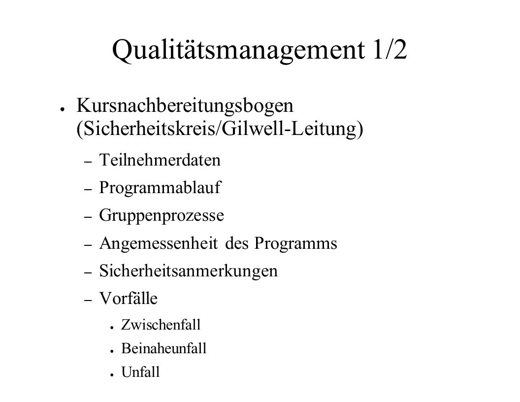 Qualitätsmanagement 1/2