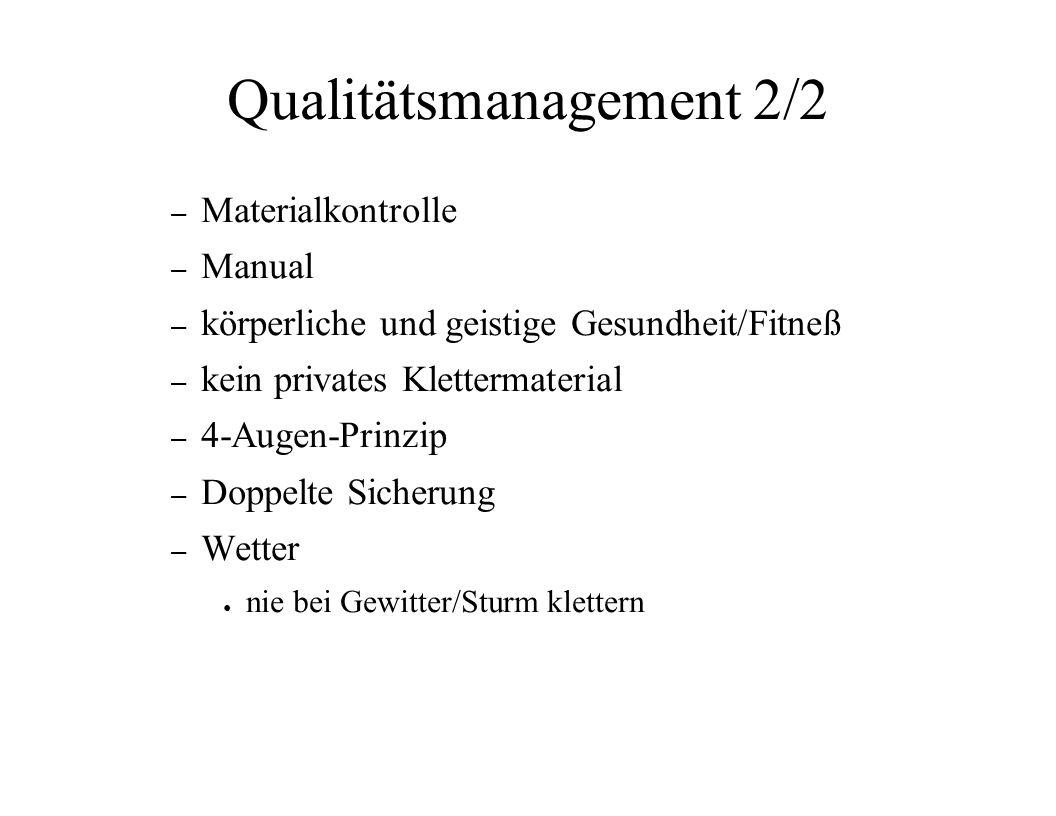 Qualitätsmanagement 2/2
