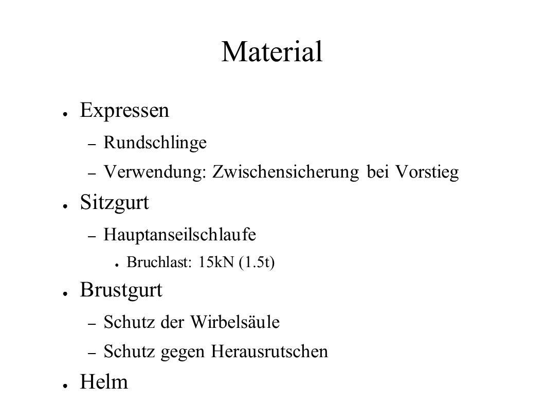 Material Expressen Sitzgurt Brustgurt Helm Rundschlinge