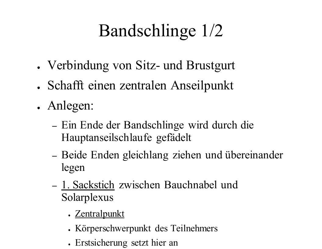 Bandschlinge 1/2 Verbindung von Sitz- und Brustgurt
