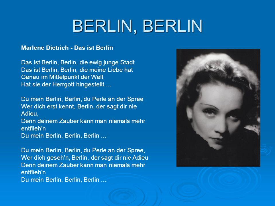 BERLIN, BERLIN Marlene Dietrich - Das ist Berlin