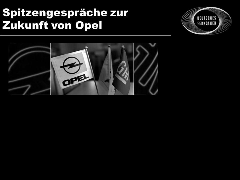 Spitzengespräche zur Zukunft von Opel