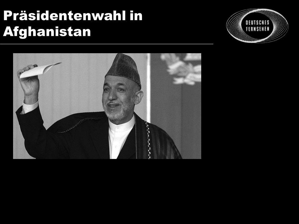 Präsidentenwahl in Afghanistan