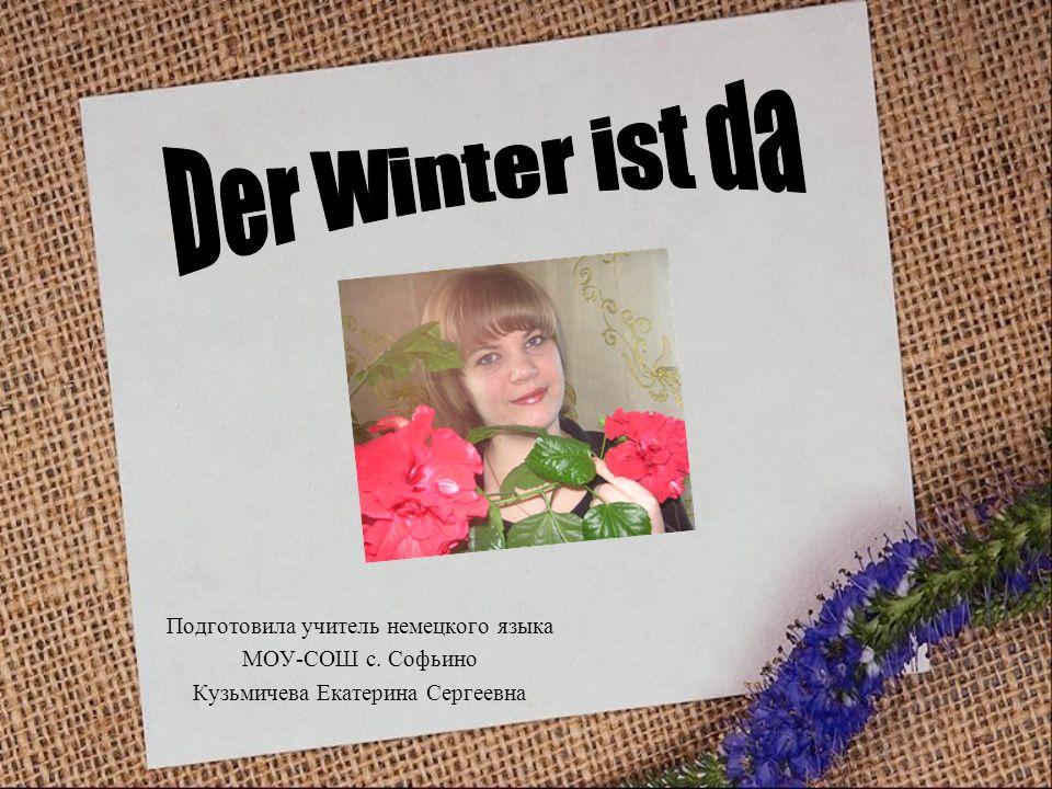 Der Winter ist da Подготовила учитель немецкого языка