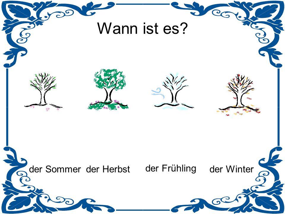 Wann ist es der Sommer der Herbst der Frühling der Winter