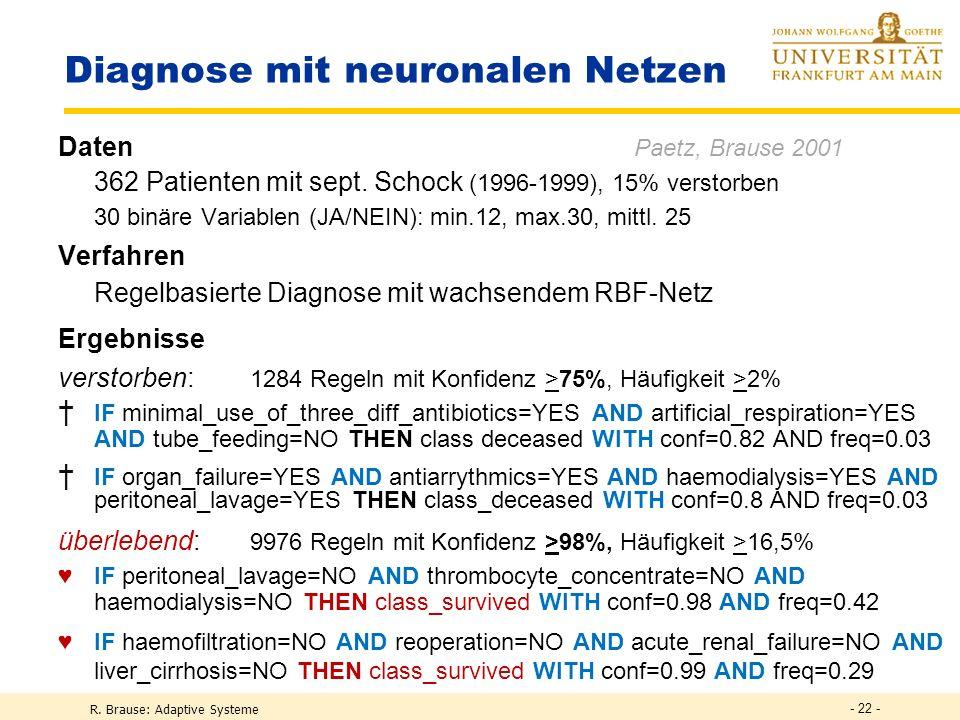 Diagnose mit neuronalen Netzen