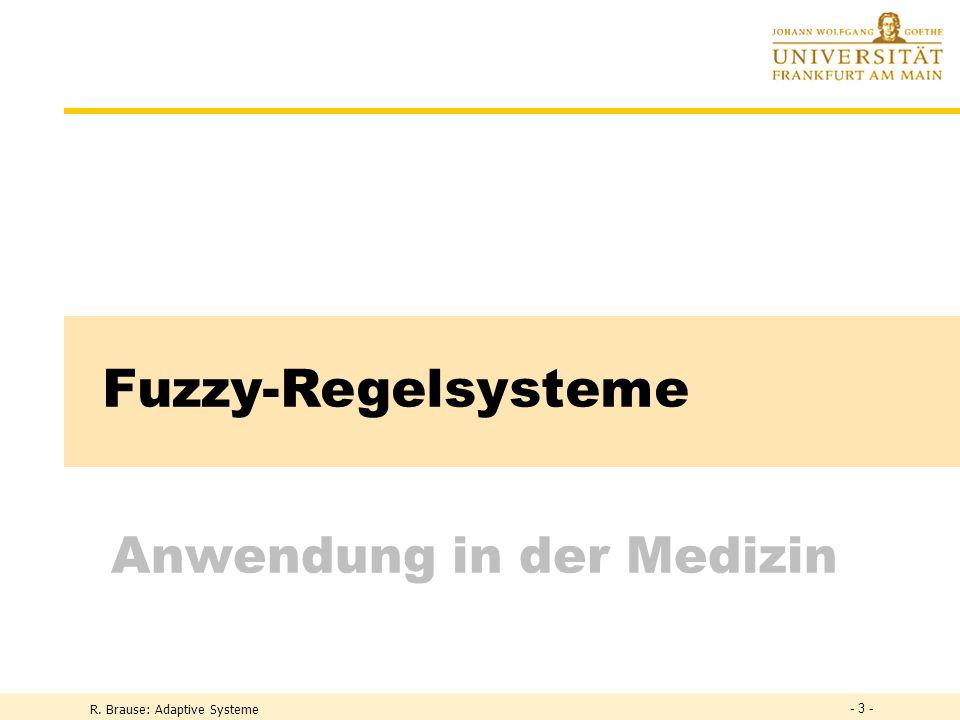 Fuzzy-Regelsysteme Anwendung in der Medizin