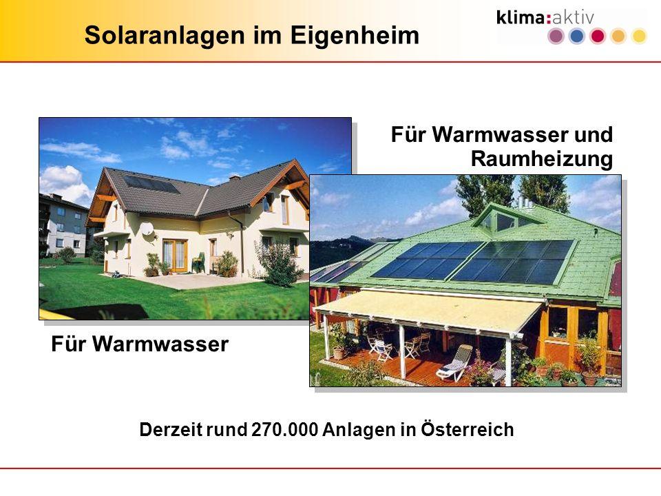 Solaranlagen im Eigenheim