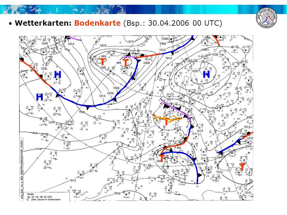 Wetterkarten: Bodenkarte (Bsp.: 30.04.2006 00 UTC)