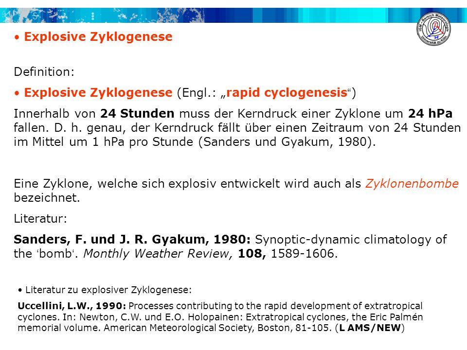 Explosive Zyklogenese
