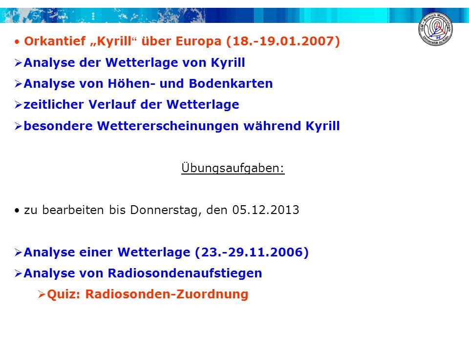 """Orkantief """"Kyrill über Europa (18.-19.01.2007)"""