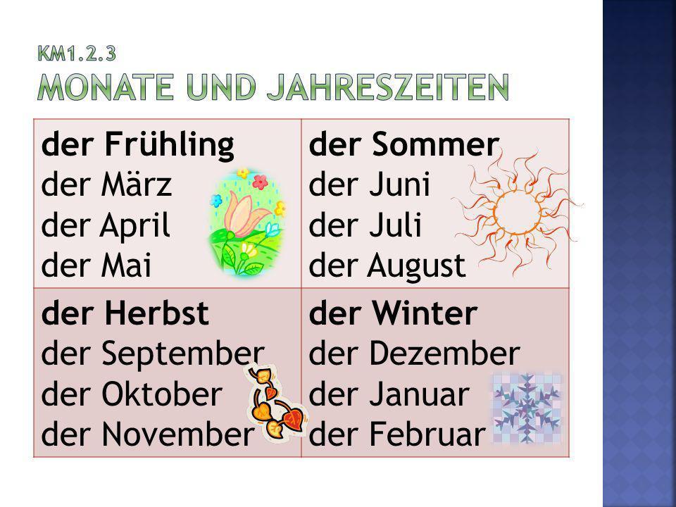 KM1.2.3 Monate und Jahreszeiten