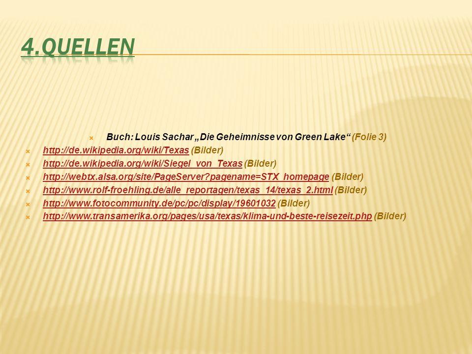 """Buch: Louis Sachar """"Die Geheimnisse von Green Lake (Folie 3)"""