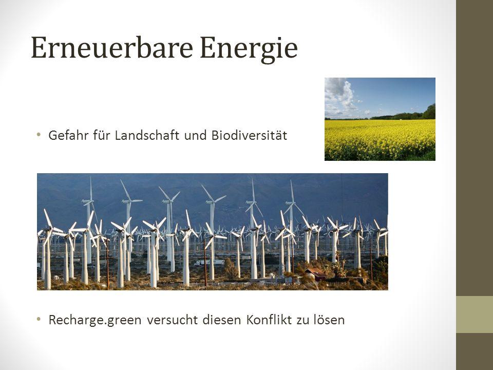 Erneuerbare Energie Gefahr für Landschaft und Biodiversität
