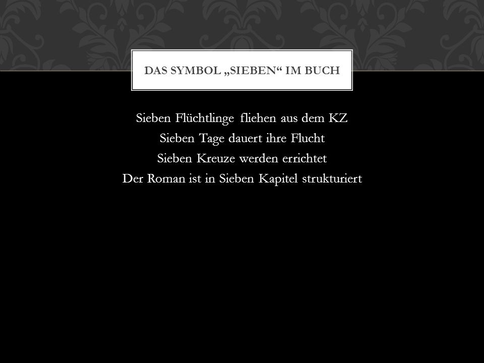 """Das Symbol """"Sieben im Buch"""