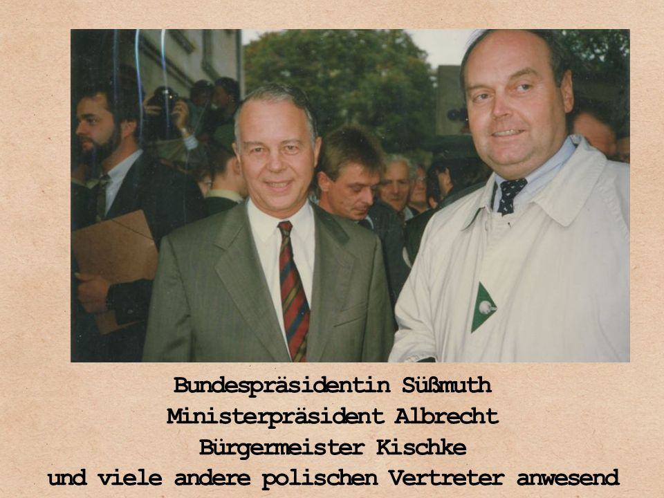 Bundespräsidentin Süßmuth Ministerpräsident Albrecht
