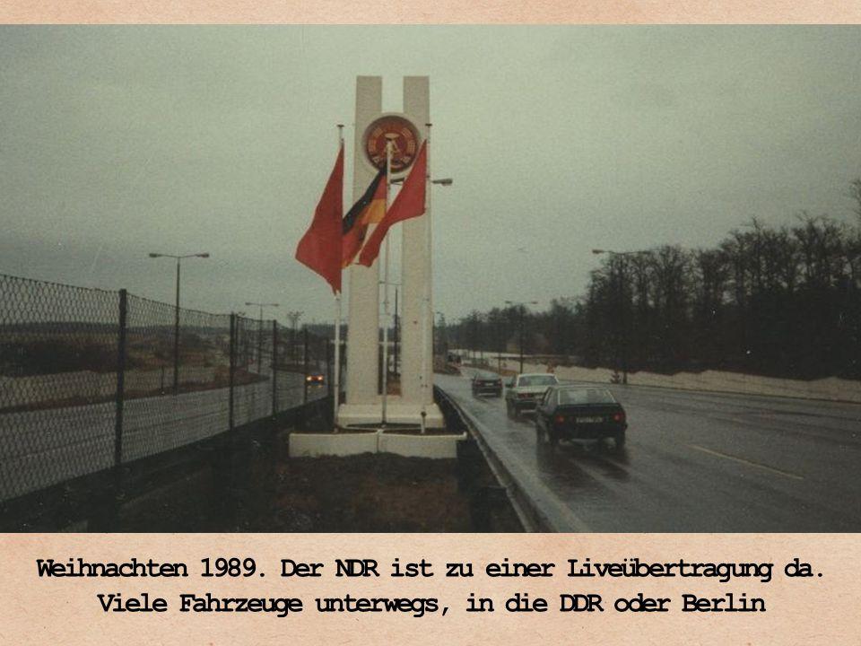 Weihnachten 1989. Der NDR ist zu einer Liveübertragung da