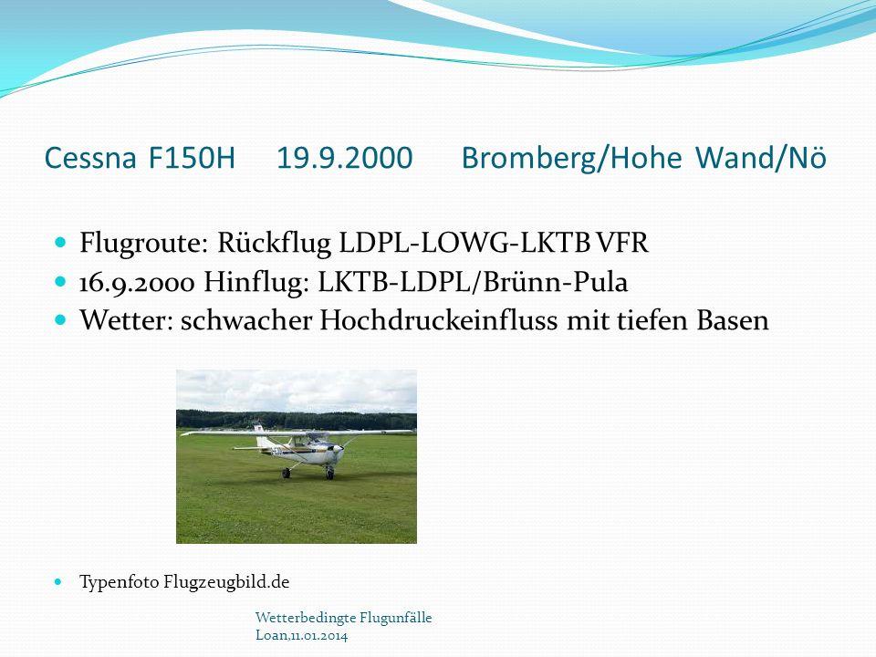 Cessna F150H 19.9.2000 Bromberg/Hohe Wand/Nö