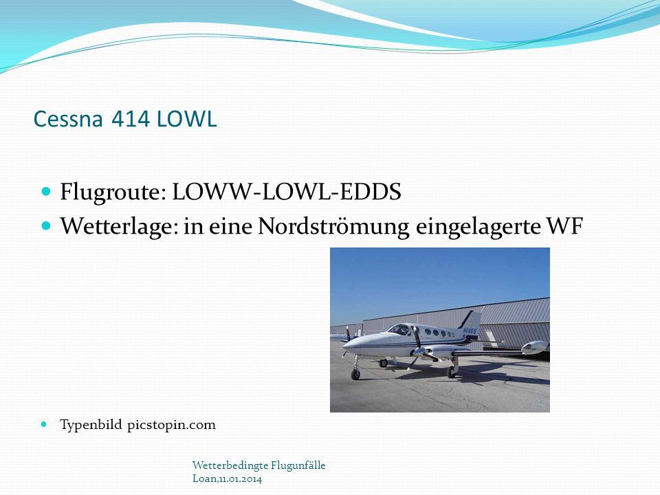 Cessna 414 LOWL Flugroute: LOWW-LOWL-EDDS