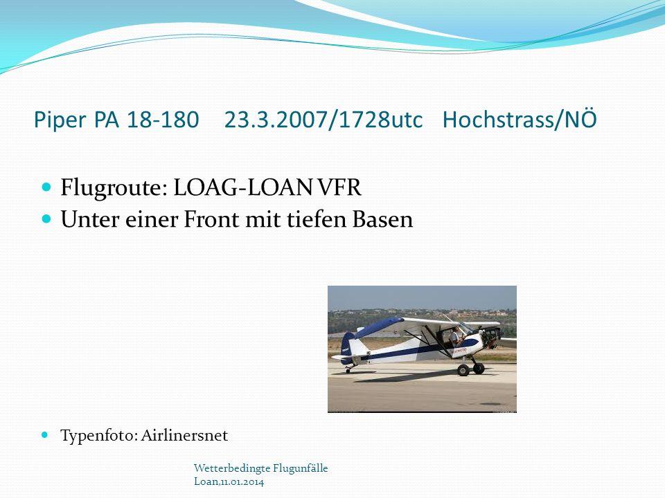 Piper PA 18-180 23.3.2007/1728utc Hochstrass/NÖ