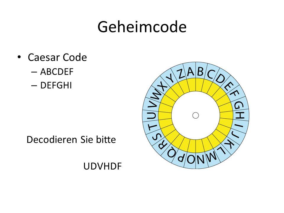 Geheimcode Caesar Code ABCDEF DEFGHI Decodieren Sie bitte UDVHDF