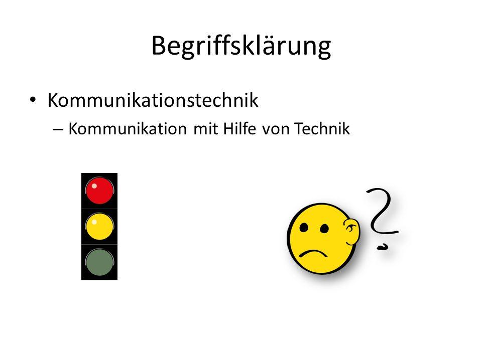 Begriffsklärung Kommunikationstechnik