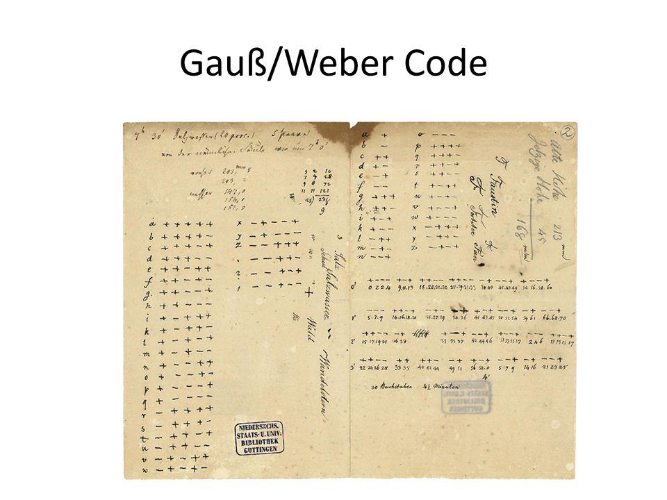 Gauß/Weber Code