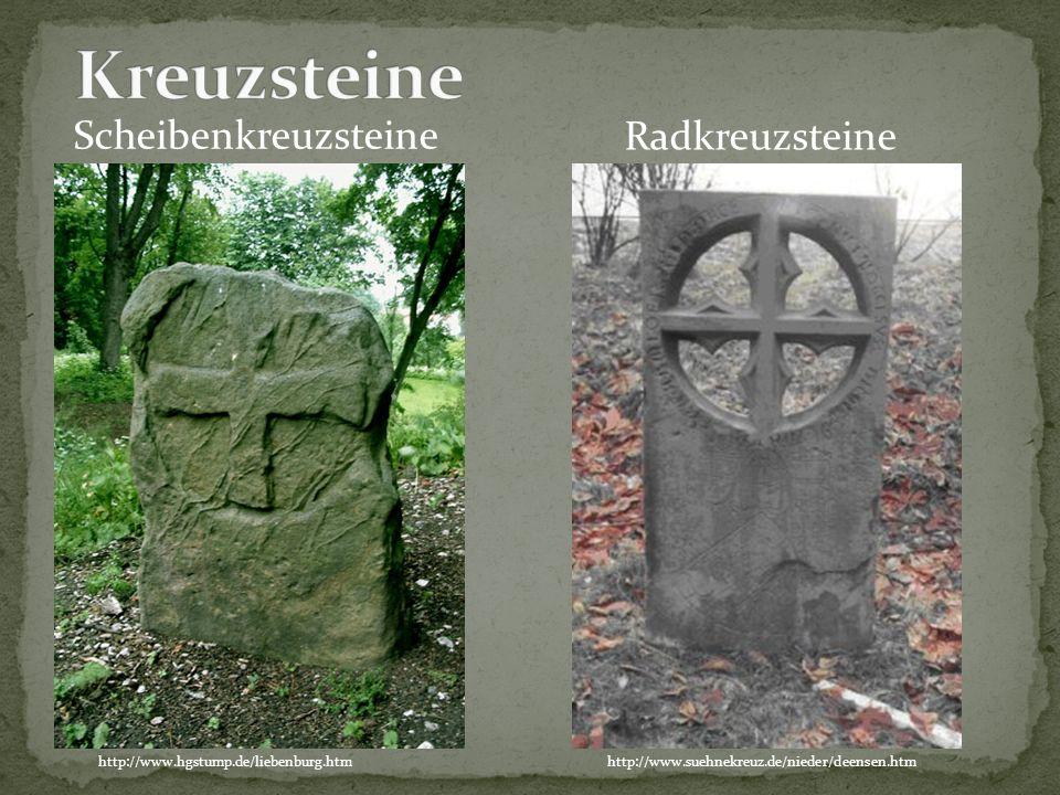 Kreuzsteine Scheibenkreuzsteine Radkreuzsteine