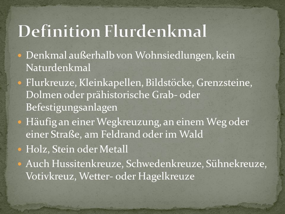 Definition Flurdenkmal