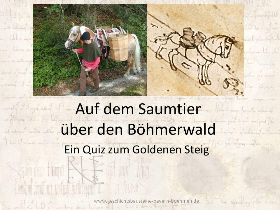Auf dem Saumtier über den Böhmerwald
