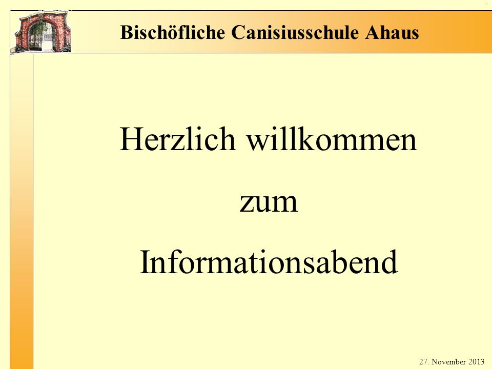 Herzlich willkommen zum Informationsabend