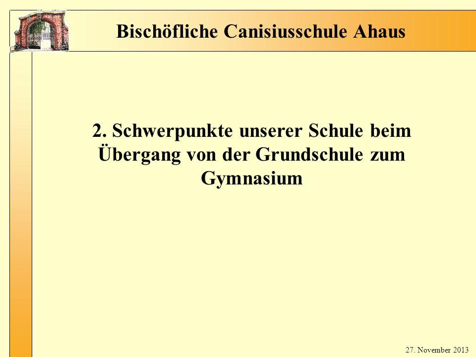 Bischöfliche Canisiusschule Ahaus