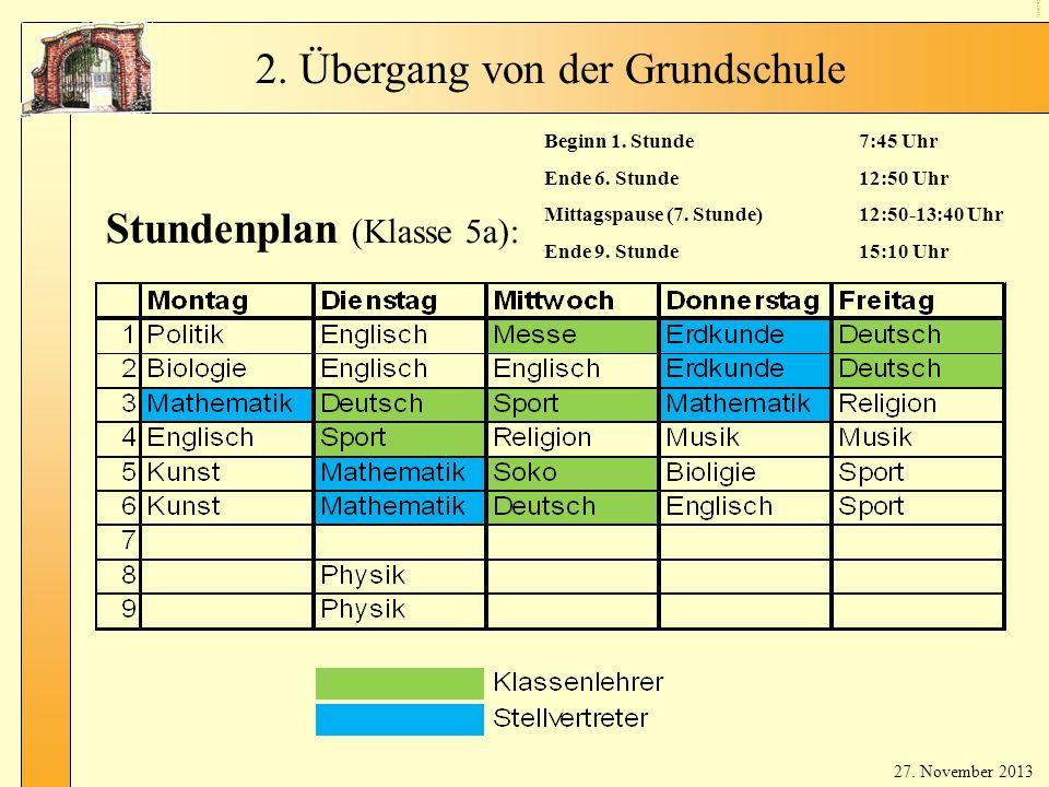 Stundenplan (Klassenlehrer)