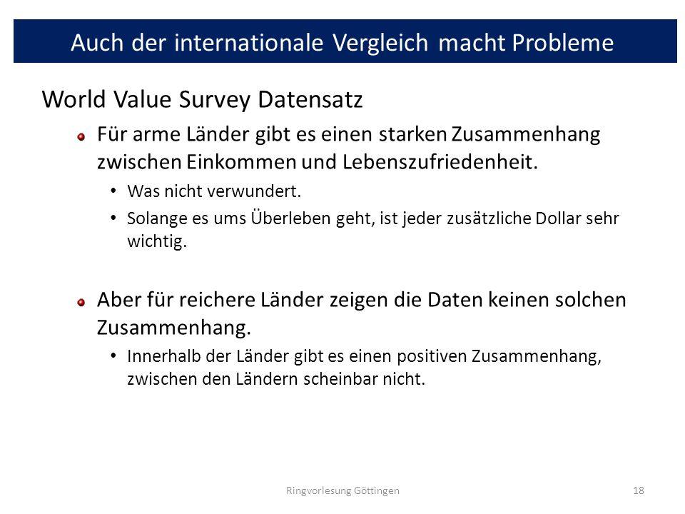 Auch der internationale Vergleich macht Probleme