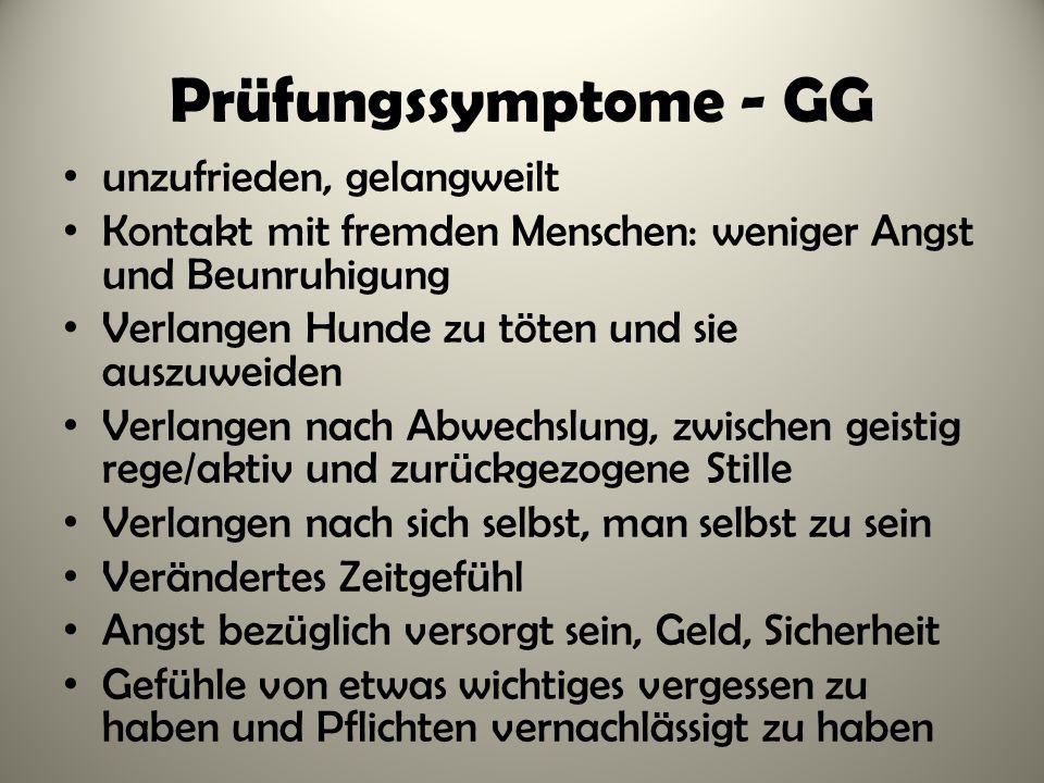 Prüfungssymptome - GG unzufrieden, gelangweilt