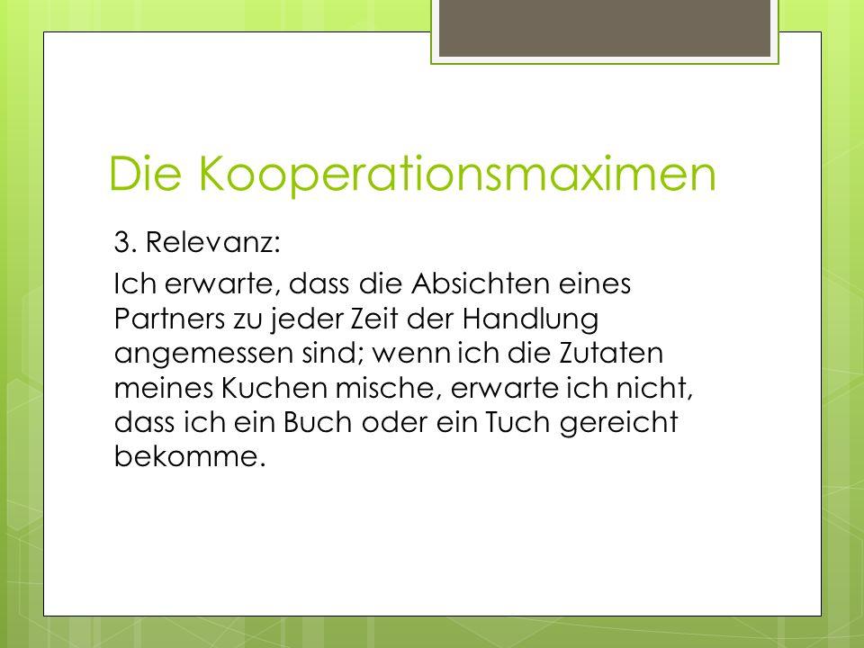 Die Kooperationsmaximen