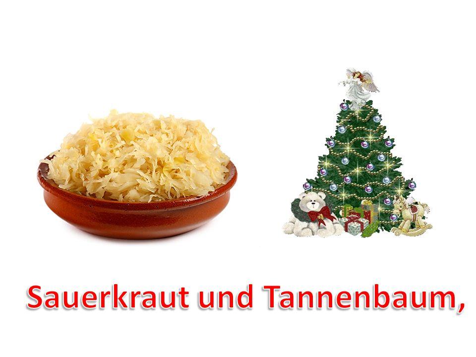 Sauerkraut und Tannenbaum,