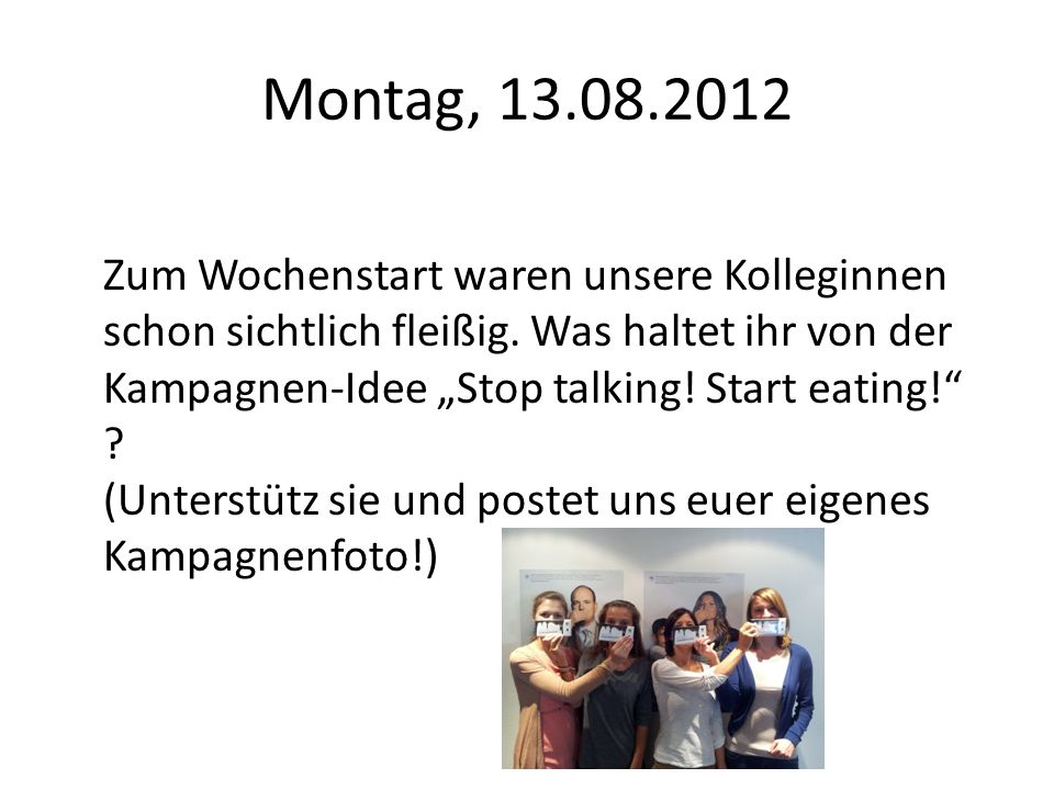 Montag, 13.08.2012