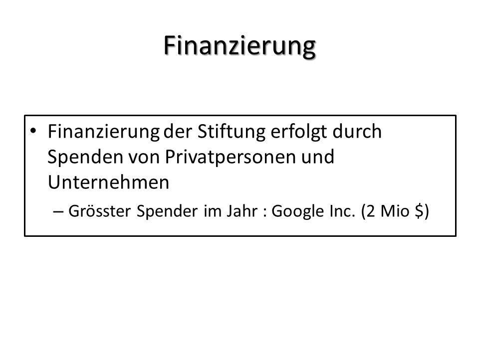 Finanzierung Finanzierung der Stiftung erfolgt durch Spenden von Privatpersonen und Unternehmen.
