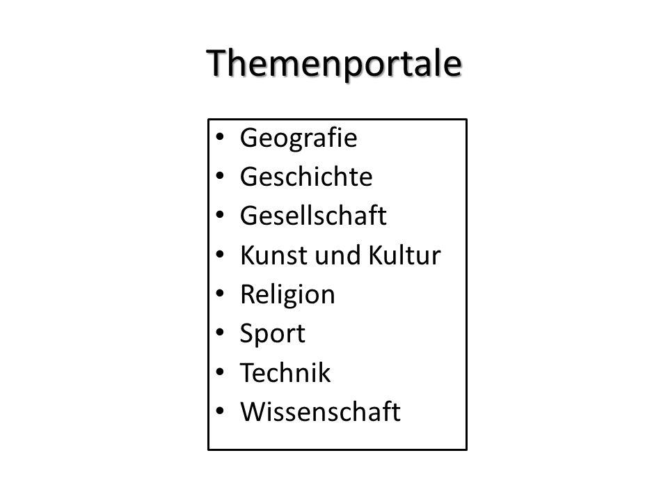 Themenportale Geografie Geschichte Gesellschaft Kunst und Kultur