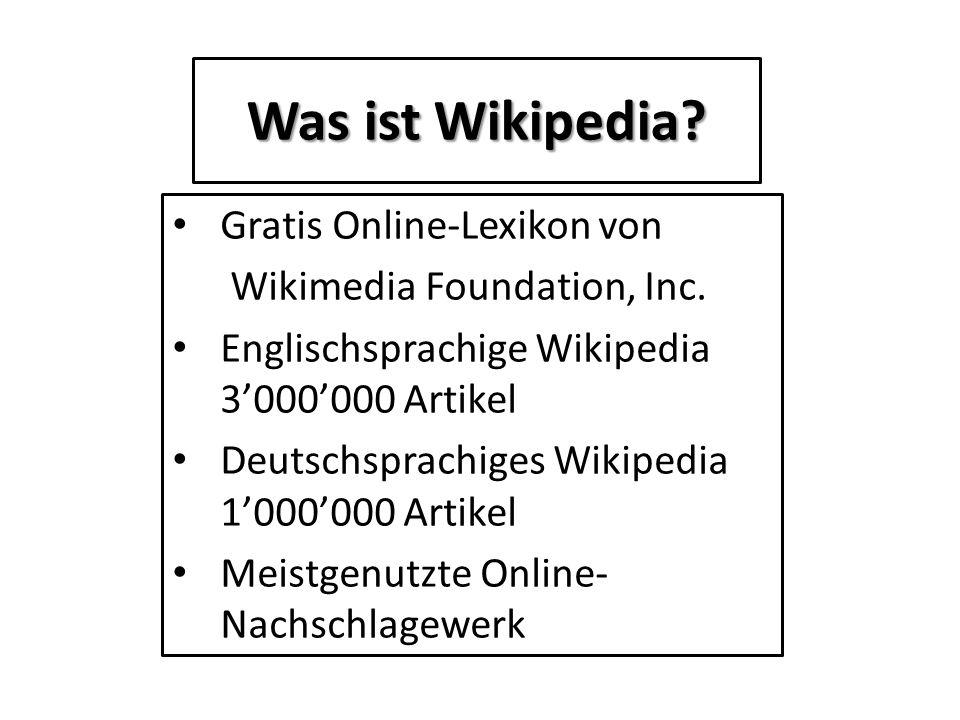 Was ist Wikipedia Gratis Online-Lexikon von