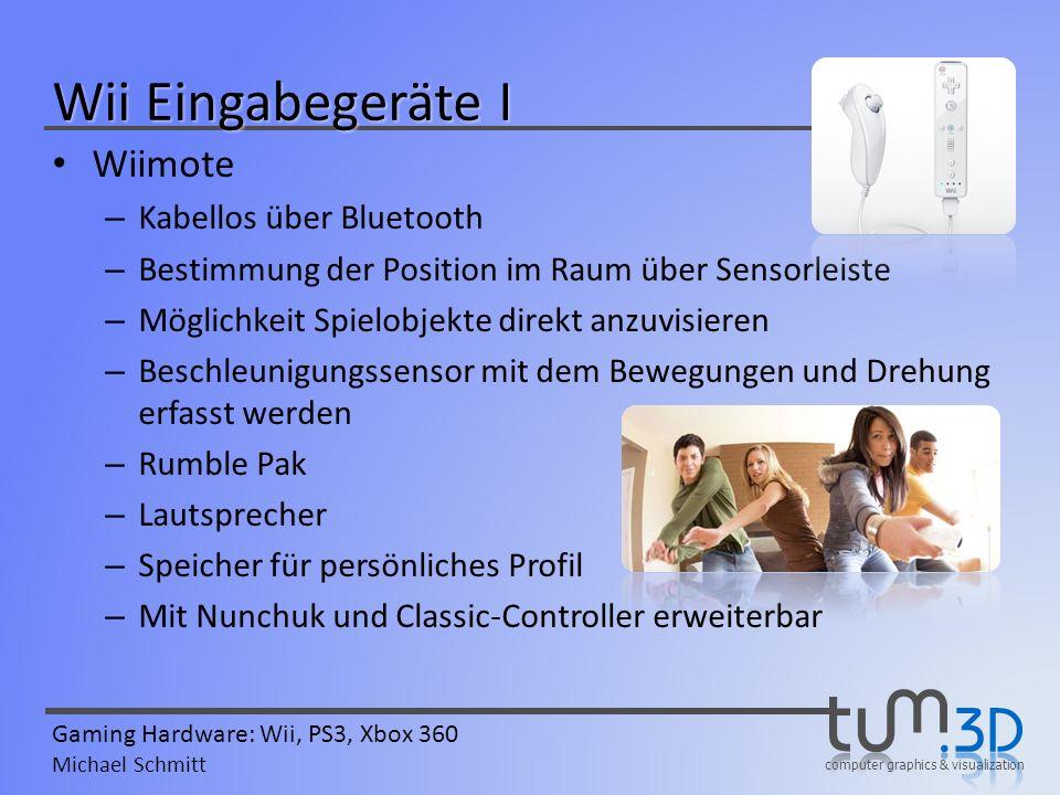 Wii Eingabegeräte I Wiimote Kabellos über Bluetooth