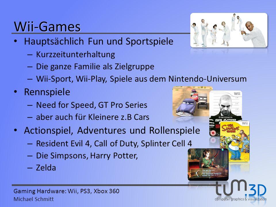 Wii-Games Hauptsächlich Fun und Sportspiele Rennspiele