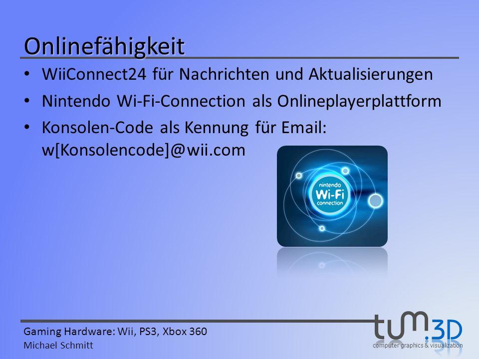 Onlinefähigkeit WiiConnect24 für Nachrichten und Aktualisierungen