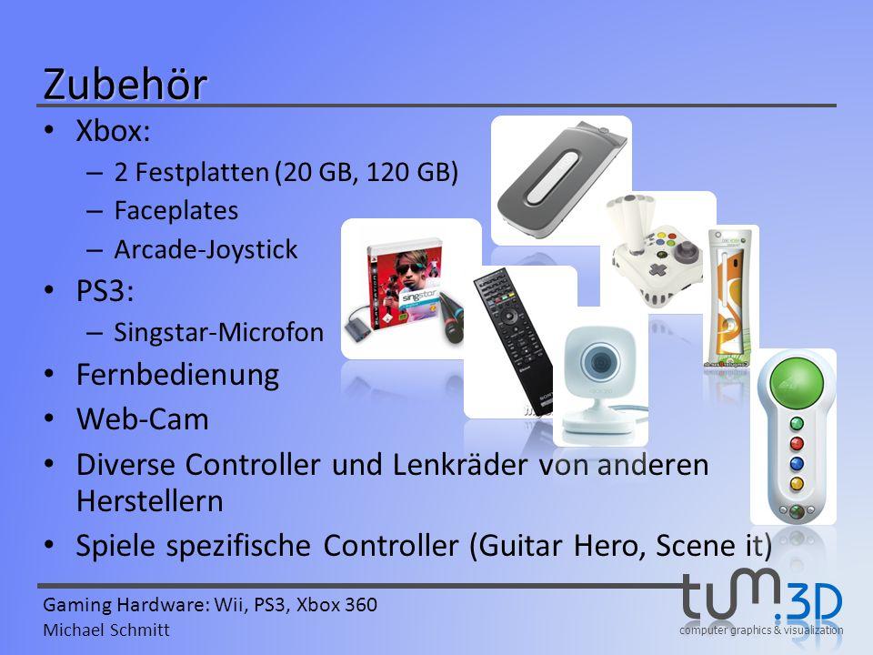 Zubehör Xbox: PS3: Fernbedienung Web-Cam