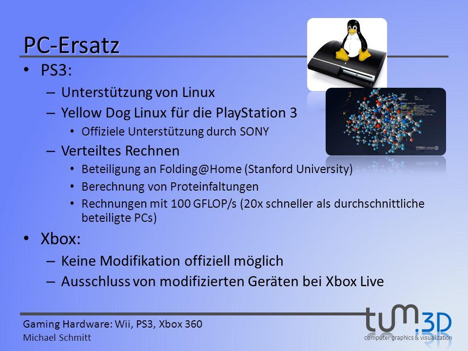 PC-Ersatz PS3: Xbox: Unterstützung von Linux
