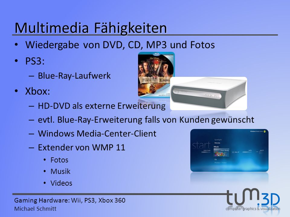 Multimedia Fähigkeiten