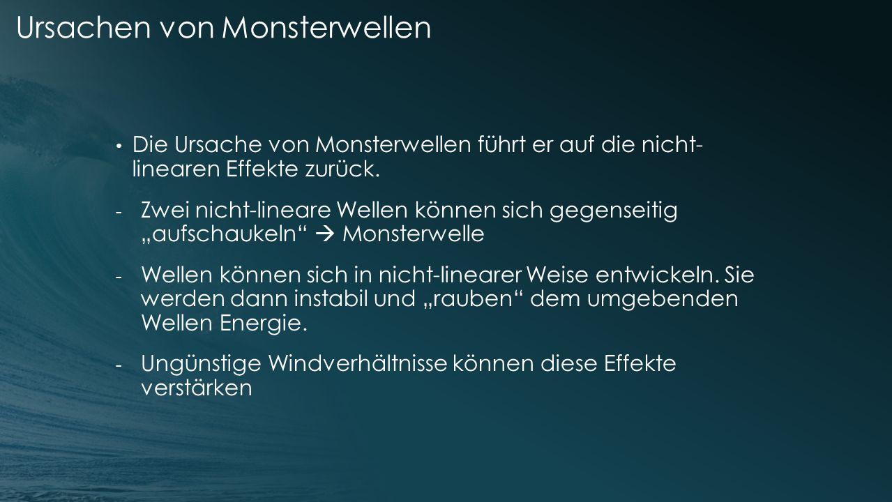 Ursachen von Monsterwellen