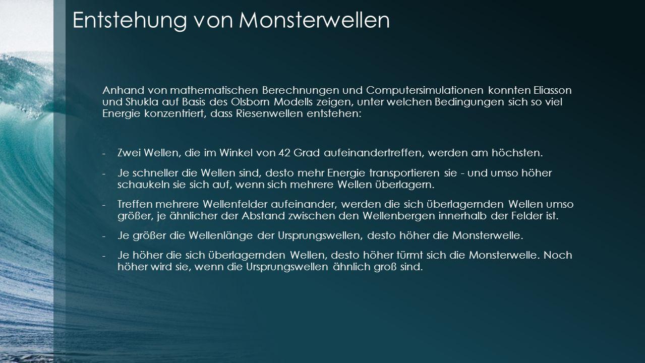 Entstehung von Monsterwellen