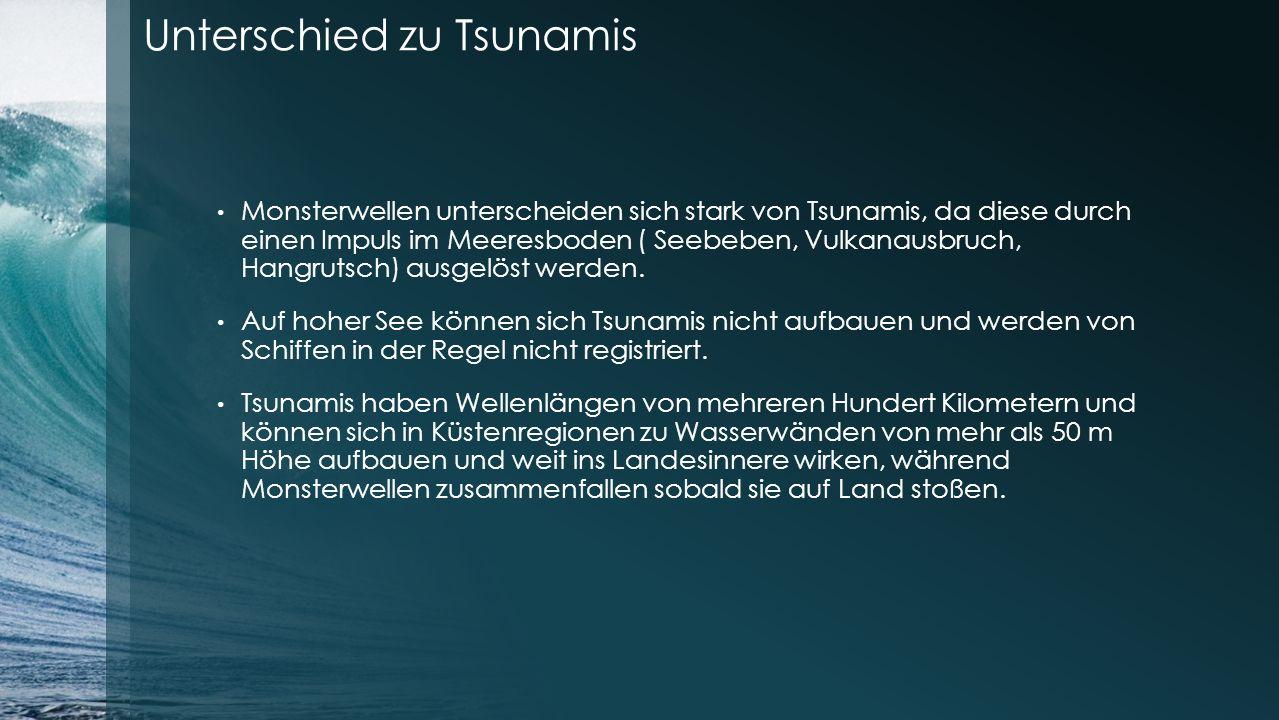 Unterschied zu Tsunamis